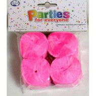 35mm Crepe Streamers - Bright Pink Pack of 4