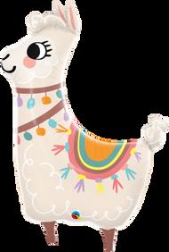 Lovable Lama - Flat Shape