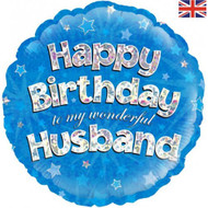 Happy Birthday Husband - 45cm Inflated Foil