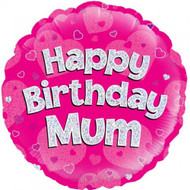 Happy Birthday Mum - 45cm Inflated Foil