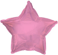 43cm Solid Light Pink Star - Inflated