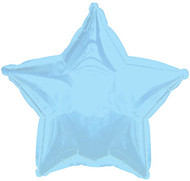 43cm Solid Light Blue Star - Inflated