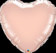 Flat 90cm Rose Gold Foil Heart