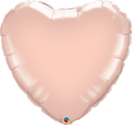 INFLATED 90cm Rose Gold Foil Heart
