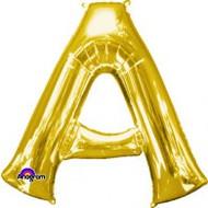 86cm Flat Alphaloon - Gold A