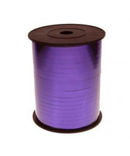 5mm x 450mtr Purple Metallic Curl Ribbon