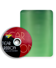 32mm x 91mtr Green Tear Ribbon