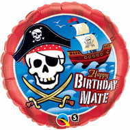 Pirate Birthday - 45cm Flat Foil