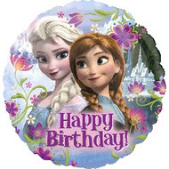 Frozen Birthday - 45cm Flat Foil