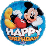 Mickey Birthday - 45cm Flat Foil