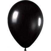 30cm Metallic Black Latex - Pkt 100