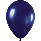 30cm Metallic Midnight Blue Latex - Pkt 100