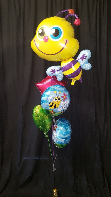 """Bee Well"" floating Foils Bouquet"
