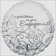 """Engagement """"Congrats"""" - 45cm Flat Foil"""