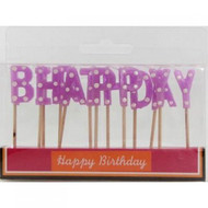 Pink Polka Dot Birthday Candles