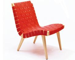 Knoll - Risom chair (Red/Beech)