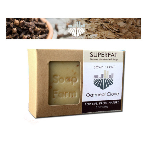 SUPERFAT Natural Handcrafted Soap Oatmeal-Clove