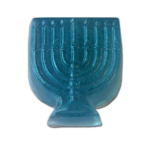 Blue menorah Handmade glycerin soap