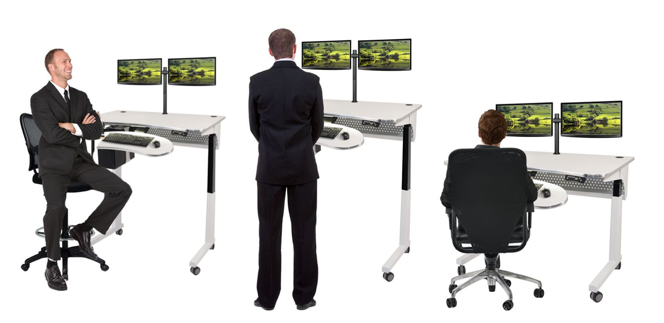 Standing desks sit to stand workstation table for Standing office desk furniture