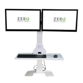 Sunrise Desk Dual Monitor Setup