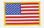 American Flag - Gold