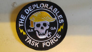 """Deplorable Task Force embroidered 3"""" patch"""