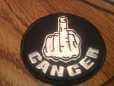 """3"""" embroidered F--You Cancer patch"""