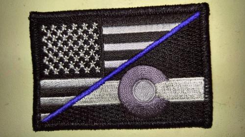 Colorado/American Blue Line 2 x 3 subdued flag