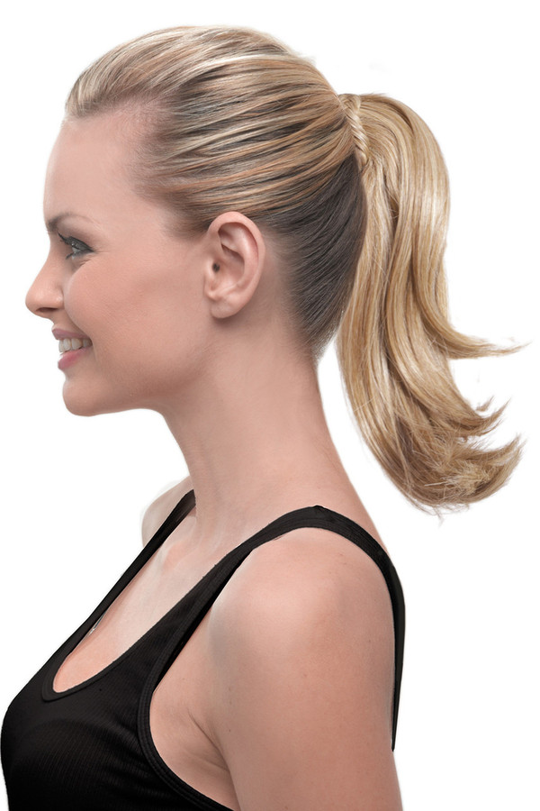 HairDo Extension - 10 Inch Claw Clip Pony with Braid (#HDCCPB) side 1