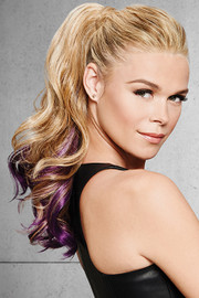 HairDo Extension - Color Splash Pony (#HX23CP) deep purple front 1