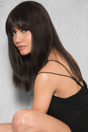 HairDo Extension - Clip-In Human Hair Fringe/Bang (#HDHHBG) side 1