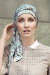 Christine Headwear - Akina Long Printed Scarf Magnolia Blue (0437)