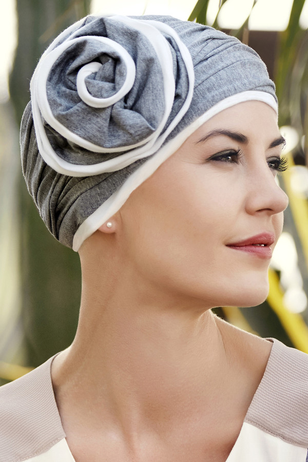 Christine Headwear - Karuna Turban Grey Melange (0169)