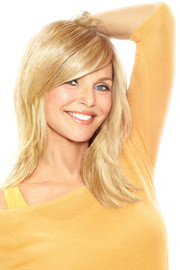 Christie Brinkley Wig - Full Sweeping Side Fringe Clip-in Bang (CBFSFR) front 1