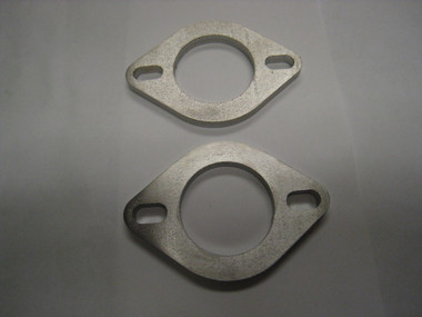 """AMS Custom 1/4""""' Stainless Exhaust Flange (Qty. 2)"""