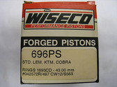 Wiseco Piston Kit, Cobra, KTM, LEM, 696PS, 696M04300,