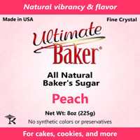 Ultimate Baker Natural Baker's Sugar Peach (1x8oz Bag)