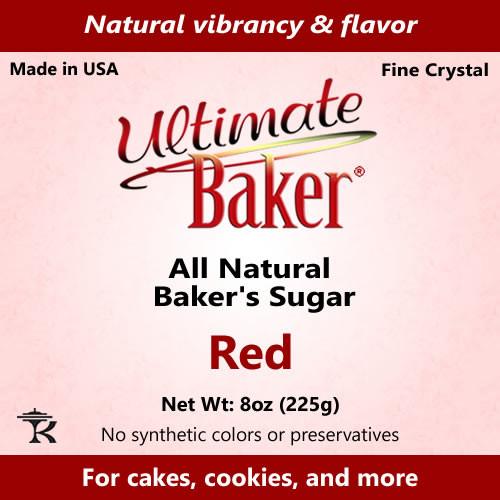 Ultimate Baker Natural Baker's Sugar Red (1x8oz Bag)