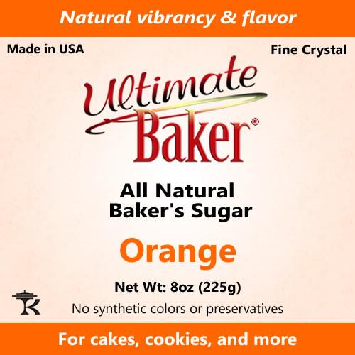 Ultimate Baker Natural Baker's Sugar Orange (1x8oz Bag)