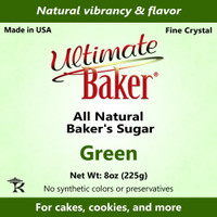 Ultimate Baker Natural Baker's Sugar Green (1x8oz Bag)