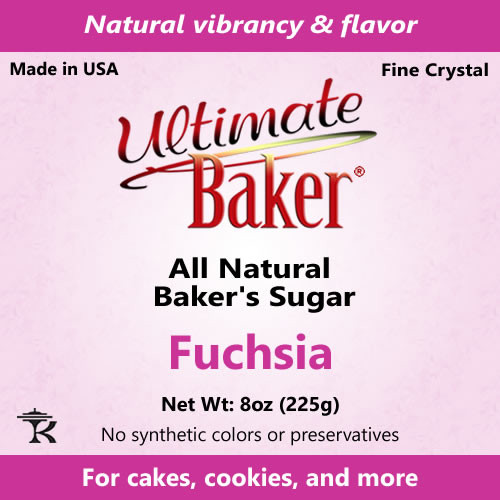 Ultimate Baker Natural Baker's Sugar Fuchsia (1x8oz Bag)