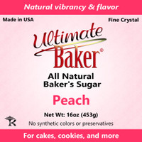 Ultimate Baker Natural Baker's Sugar Peach (1x1lb)