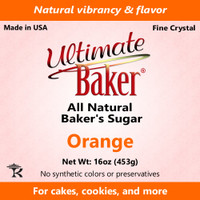 Ultimate Baker Natural Baker's Sugar Orange (1x1lb)