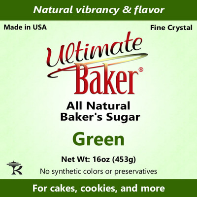 Ultimate Baker Natural Baker's Sugar Green (1x1lb)