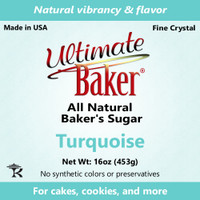 Ultimate Baker Natural Baker's Sugar Turquoise (1x1lb)