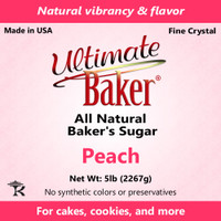 Ultimate Baker Natural Baker's Sugar Peach (1x16lb)