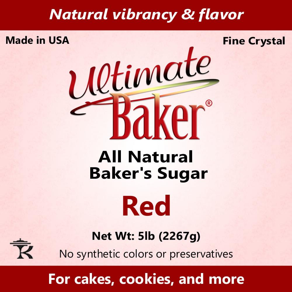 Ultimate Baker Natural Baker's Sugar Red (1x16lb)