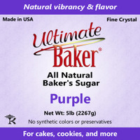 Ultimate Baker Natural Baker's Sugar Purple (1x16lb)