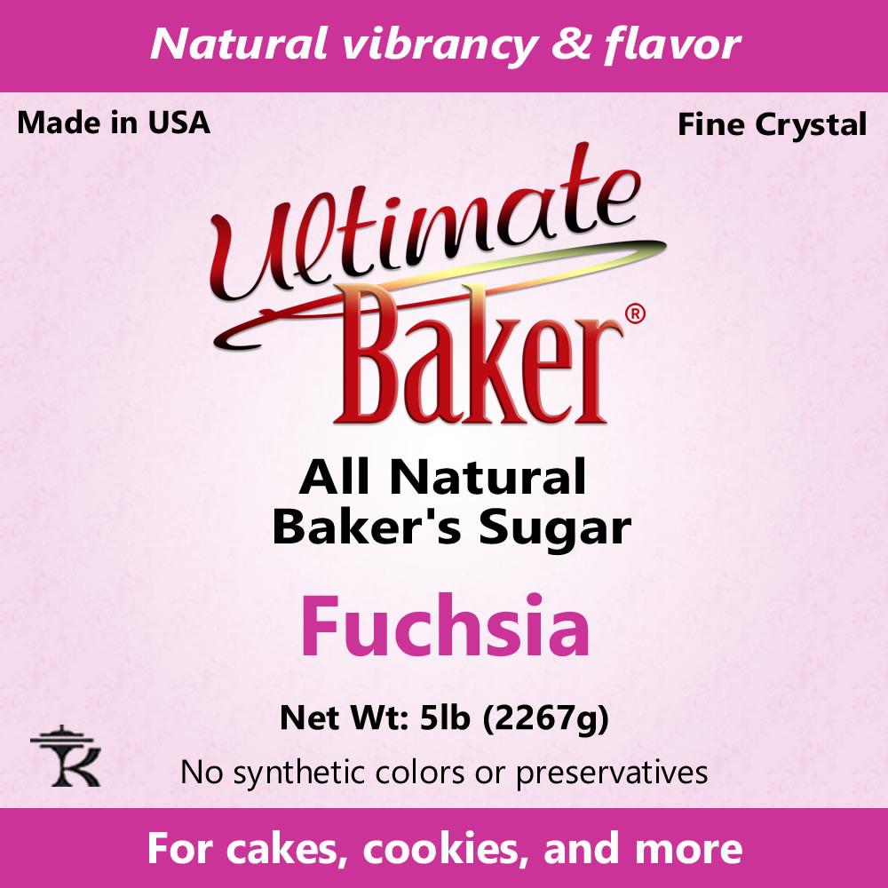 Ultimate Baker Natural Baker's Sugar Fuchsia (1x5lb)