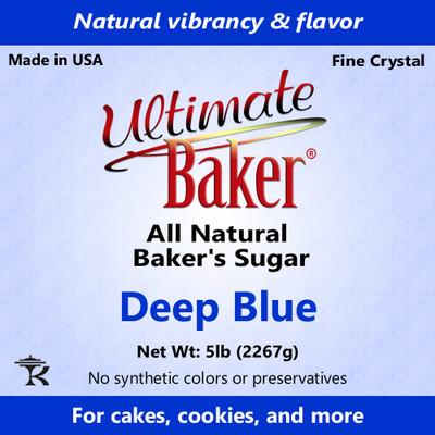 Ultimate Baker Natural Baker's Sugar Deep Blue (1x5lb)